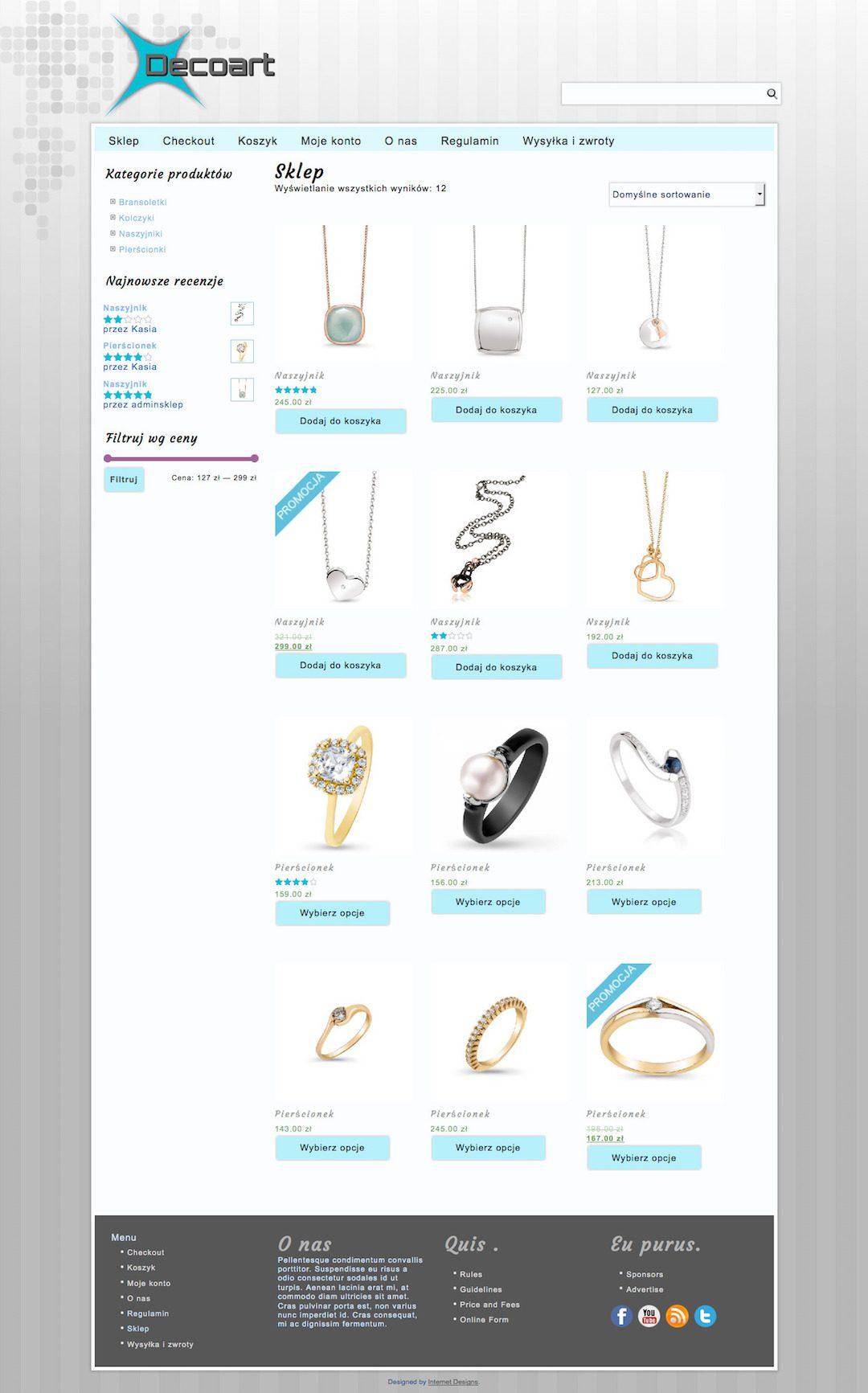 Online Shop Decoart