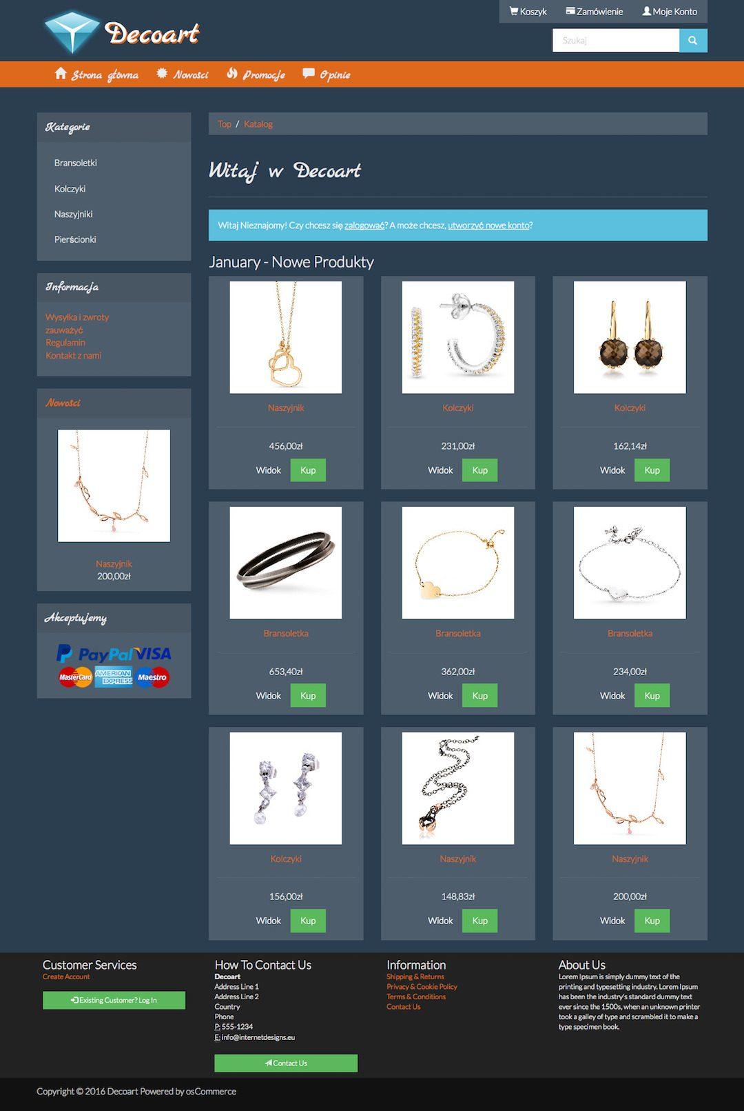 Online Shop Decoart 2